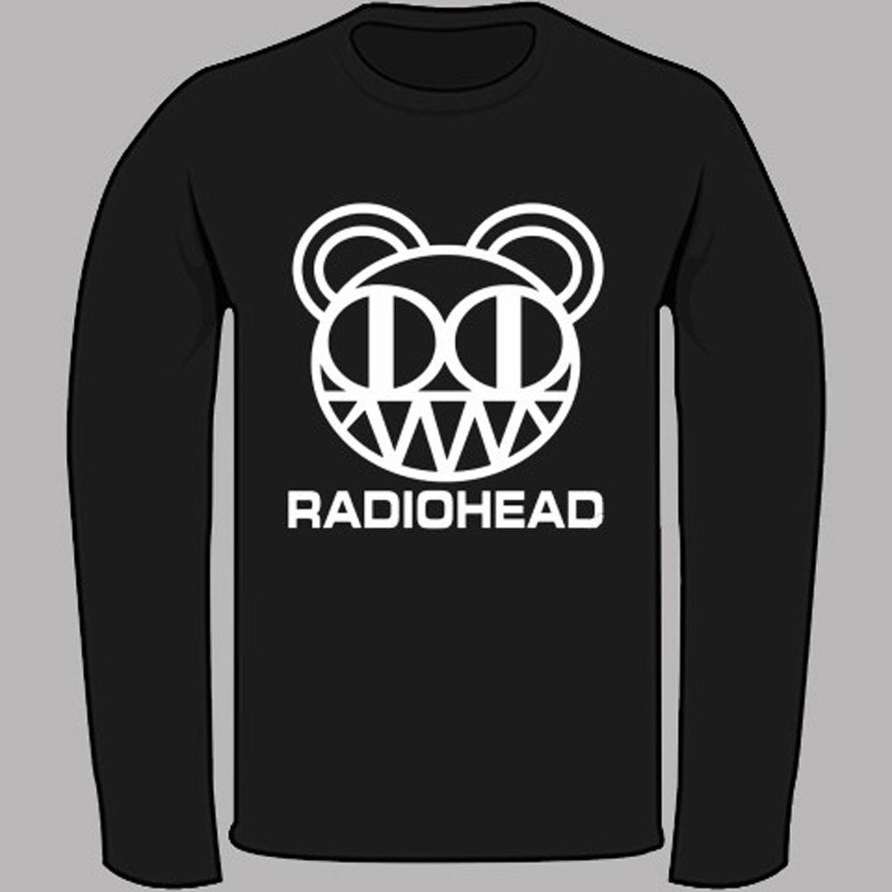 0349770eb927 New Radiohead Alternative Rock Band Logo Black Long Sleeve T Shirt Size S  3XL Awesome T Shirts For Men T Shirts Shopping Online From Banwanyue7, ...