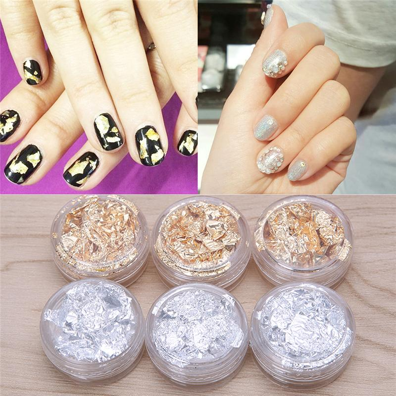 New Nail Art Design Decoration Paillette Flake Foil Acrylic UV Gel ...