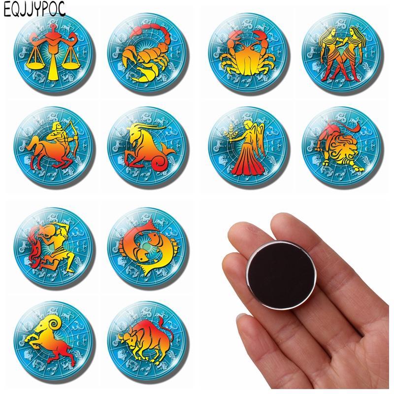 colorful zodiac sign glass fridge magnets virgo libra scorpio pisces