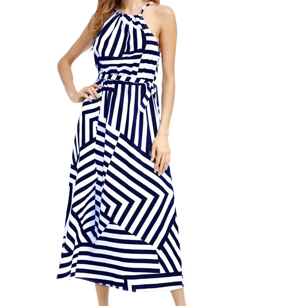 065fc76966 Women Sexy Summer Boho Maxi Long Evening Party Beach Dress Sundress  Dressing Gowns For Women Vetement Femme 2019 Prom Woman Suit Elegant Evening  Dresses ...