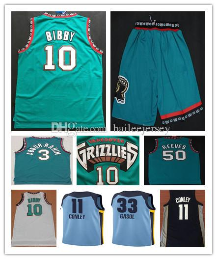 77f74fa5086 Mens Stitched  11 Mike Conley 33 Mark Gasol 10 Mike Bibby Jersey ...