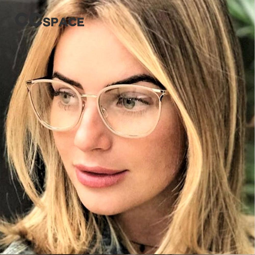 b0e2f14ea5eb Light ! Only 20g Ladies Metal Round Glasses Frames Women Sexy Cat ...