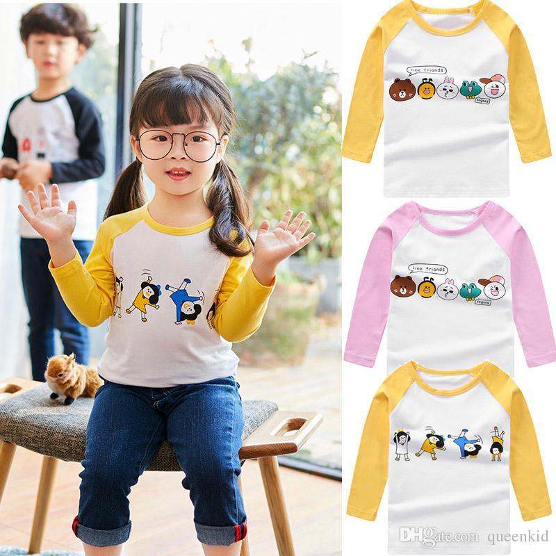 20a2d75dc49f Korean Style Baby Boys Girls Tops Long Sleeves Shirts Autumn Winter ...