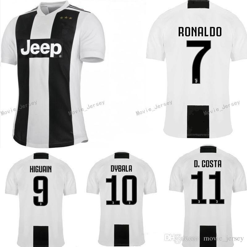 quality design b5200 ee6ae SIZE S-XXL 2018 2019 Juventus Soccer Jersey 18 19 RONALDO DYBALA Soccer  Shirt D. Costa MANDZUKIC PJANIC HIGUAIN football Jerseys uniform