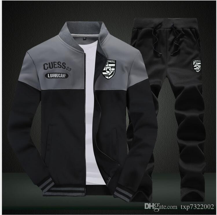ba569b7b73a 2019 Sweatsuit Men Clothing Tracksuit Set Crossfit 2018 Men S Set Spring  Summer Men Tracksuit Sportswear Set Suit Jacket+Pant From Txp7322002