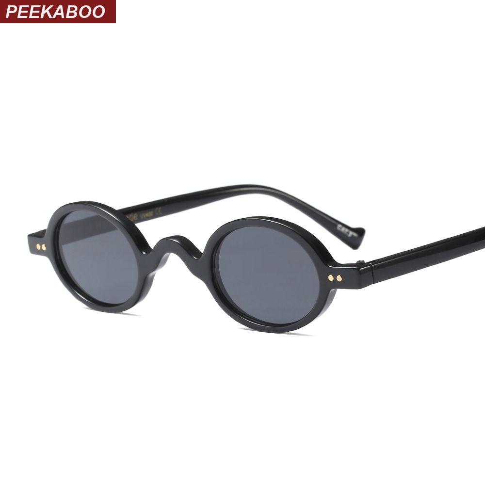 ae4a5535683 Peekaboo Tiny Sunglasses Women Round Black 2018 Summer Pink Blue Leopard  Small Round Sun Glasses For Men Vintage Uv400 Cheap Eyeglasses Online  Sunglasses At ...