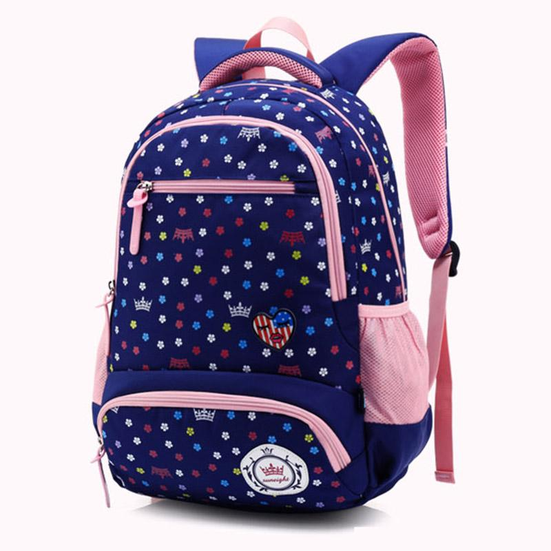 7b4e9dc435ad 2018 Hot Fashion Floral Print Girl School Bag Kid Backpack Zipper  BackpacFor Grade 3 5 Primany School Bags High Quality School Bags For Kids  Girls School ...