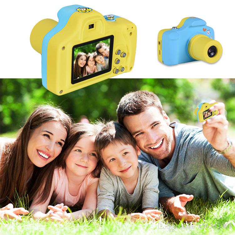 HD Mini Kids Digital Video Camera 1.5 Inch Screen Creative Neck Mini Digital Cameras for children Birthday Gift Toy gifts