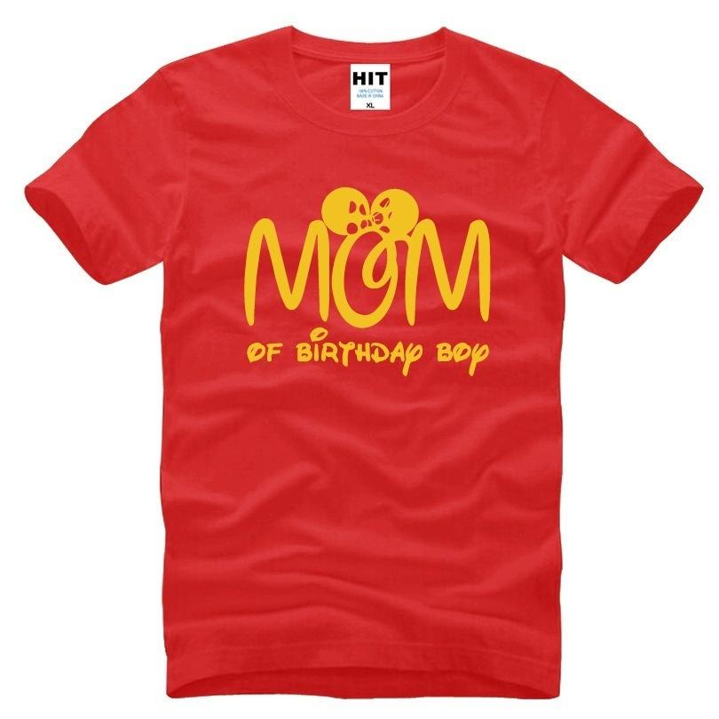 Mom Of Birthday Boy T Shirt Women Funny Printed Mother Day Gift Girls Short Sleeve Cotton O Neck Tees Awesome Shirts Cool For Men
