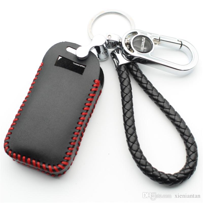 Натуральная кожа 6-кнопочный чехол для смарт-ключа для Volvo S60 / S80 / V60 / XC60 / XC70 Keyless Entry Стайлинг B L2003