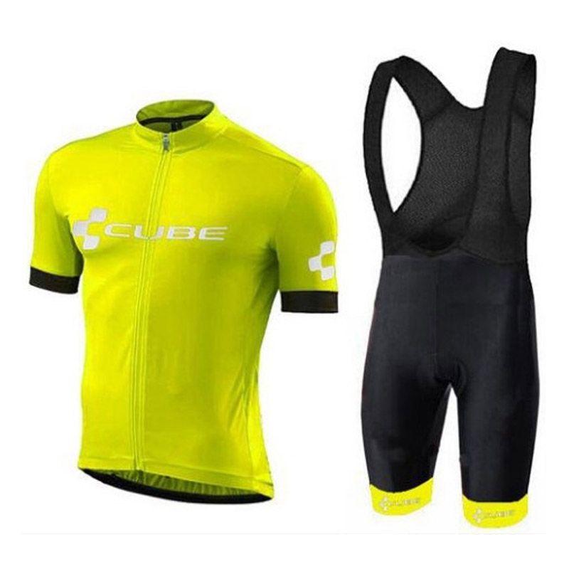 2018 novo Pro Equipe Cube Ciclismo Jerseys Kit Ropa ciclismo Quick Dry Esportes Jersey Ciclismo Vestuário Terno venda direta da fábrica C2801
