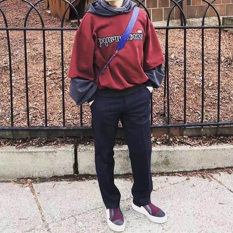 18FW Gosha Rubchinskiy Mit Kapuze Sweatshirts Kanye West Baumwolle Hoodies Männer Frauen Paar Oberbekleidung Mode Trend Sweatshirts HFTTWY064