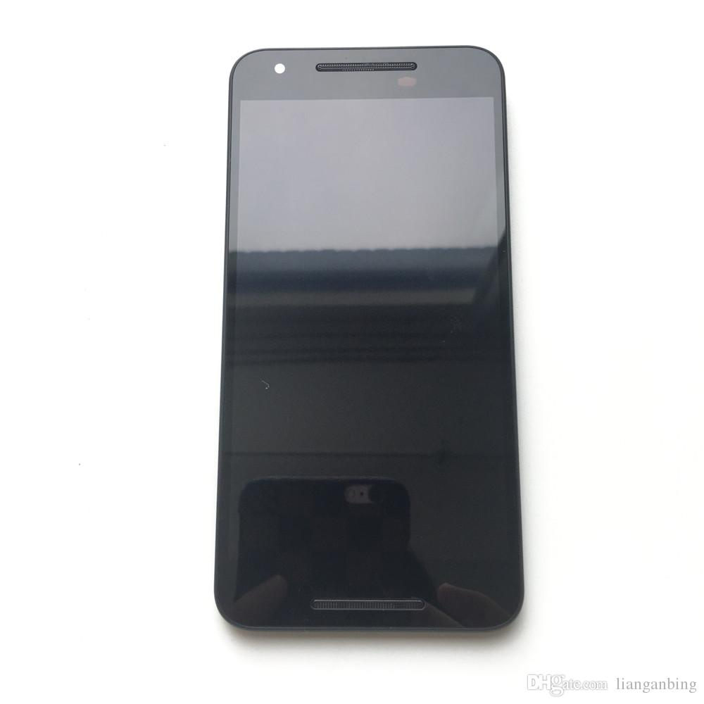 NEW LCD Display Touch Screen Panels Digitizer+Frame For LG Google Nexus 5X H790 H791 Black With Tempered Glass DHL logistics