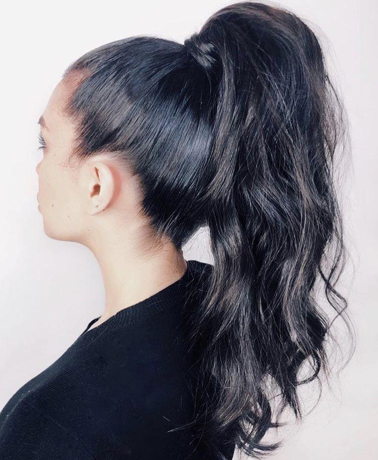 wet wavy brazilian drawstring ponytail human hair extension wrap