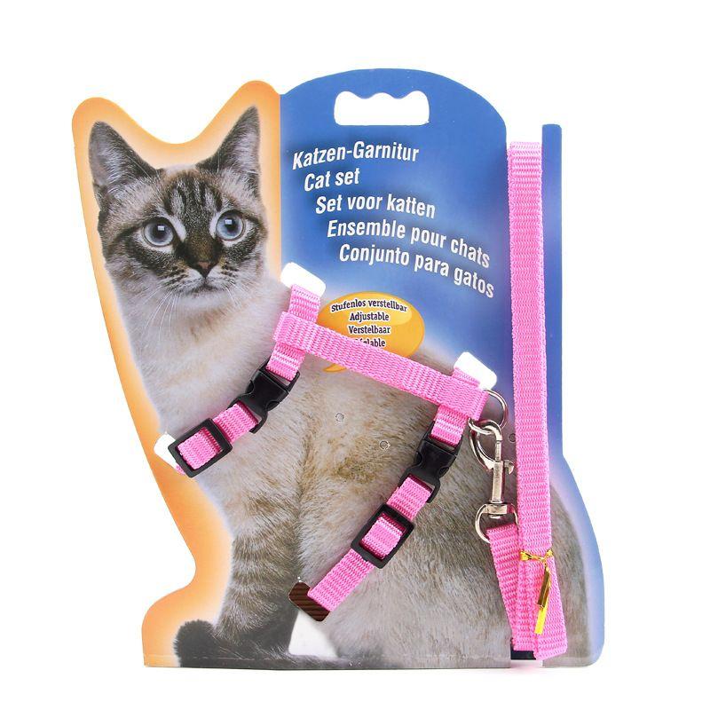Collares de gato delgados y coloridos Colorido Material de nylon práctico Cables de gatito con hebilla de metal Uso de mascotas Correas de deslizamiento Suministros 2 45zj Z
