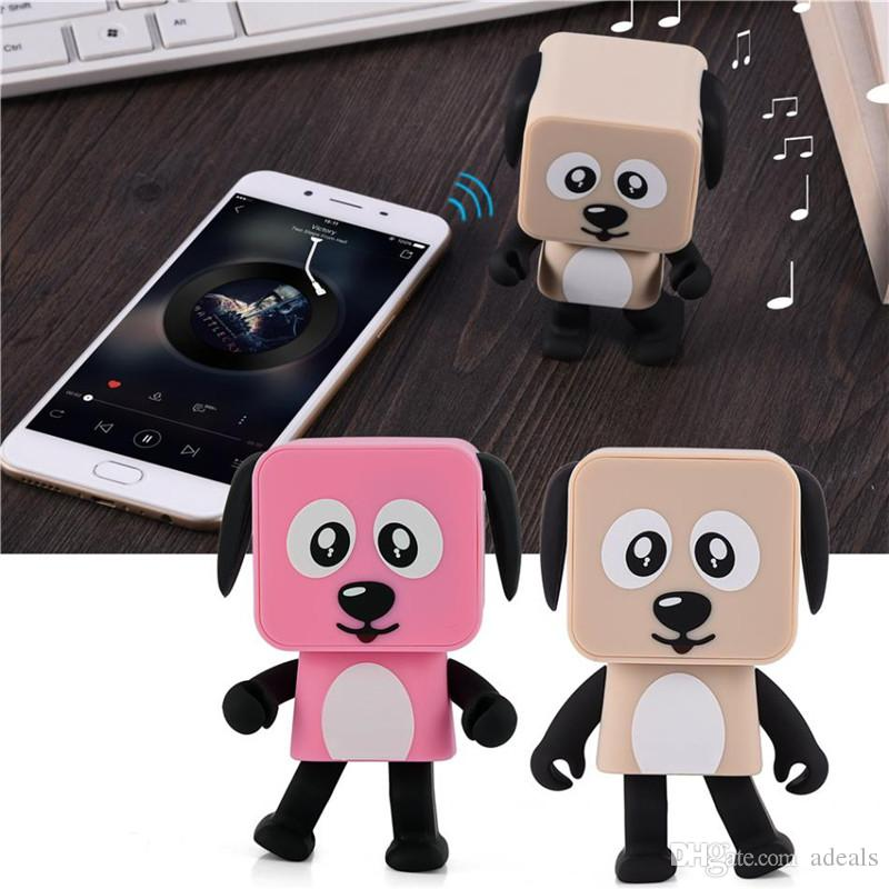 Mini Dancing Dog Bluetooth Speaker Portable Wireless Subwoofer Stereo Music Player Best Gift For Kids With Mic Retail Box