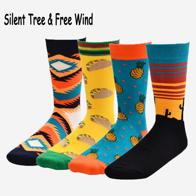 Underwear & Sleepwears Novelty Men Pineapple Fruit Funny Long Socks Women Funky Cartoon Unisex Casual Sock
