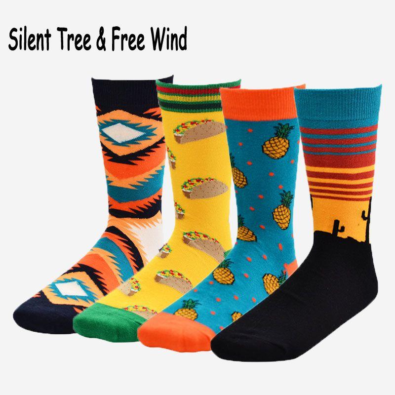 Novelty Men Pineapple Fruit Funny Long Socks Women Funky Cartoon Unisex Casual Sock Men's Socks
