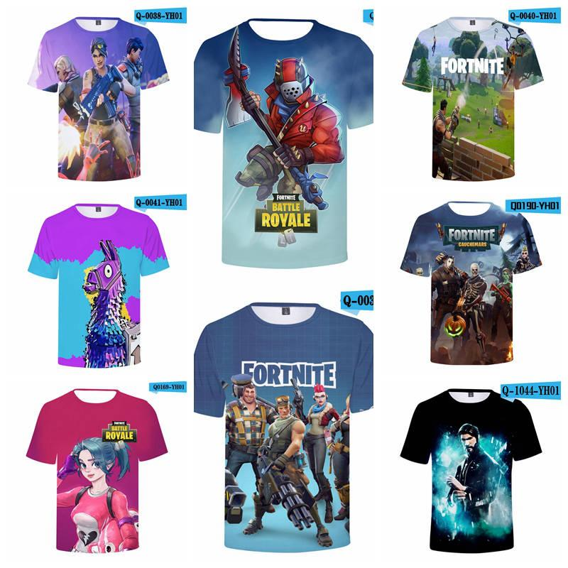 8c89ebc6 Fortnite T Shirts 40 Designs Big Kids Student Mens 3D Print Fortnite Cotton Short  Sleeved Breathable Tshirt Big Kids T Shirts Canada 2019 From Toy_dh, ...