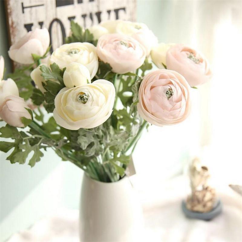 Wholesale Artificial Tea Rose Flower Branch Simulation Rose Bouquet
