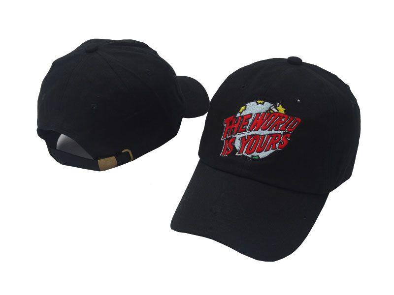 2018 Nuovo arrivo Il mondo è tuo Cappello Uomo Donna Cappello papà Berretto da baseball ricamato Cappellino da baseball con cappuccio ricurvo
