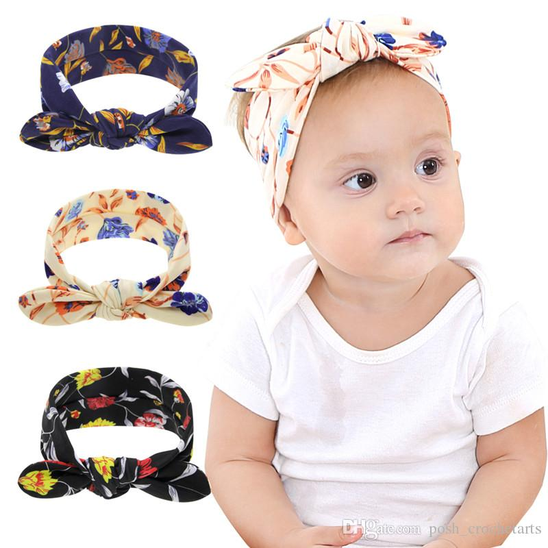 Baby Girls Headbands Bunny Ear Knotted Head Wrap Infants Hair Accessories  IG Style Fashion Babe Head Wraps Vintage Wedding Hair Accessories Green  Hair ... 7df4390a71b