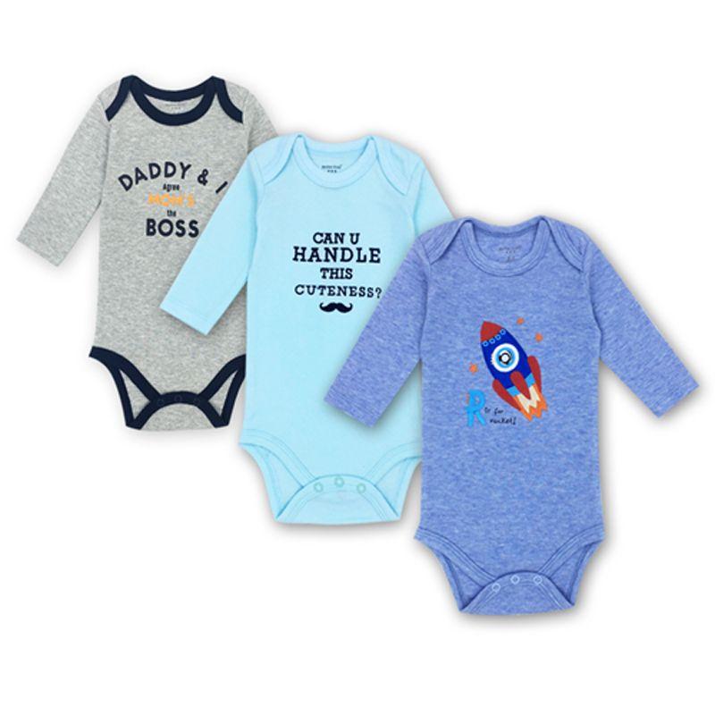 bac8d56416bd 2019 Newborn Bodysuit Baby Boy Girl Long Sleeve Jumpsuit Outfits 100 ...