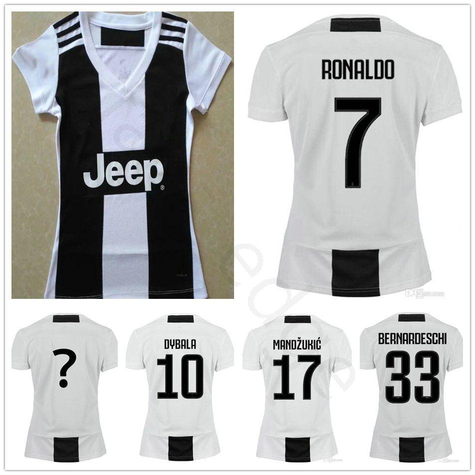 948884fc814 ... order 2018 18 19 women juventus soccer jerseys 7 ronaldo buffon dybala  mandzukic pjanic chiellini custom
