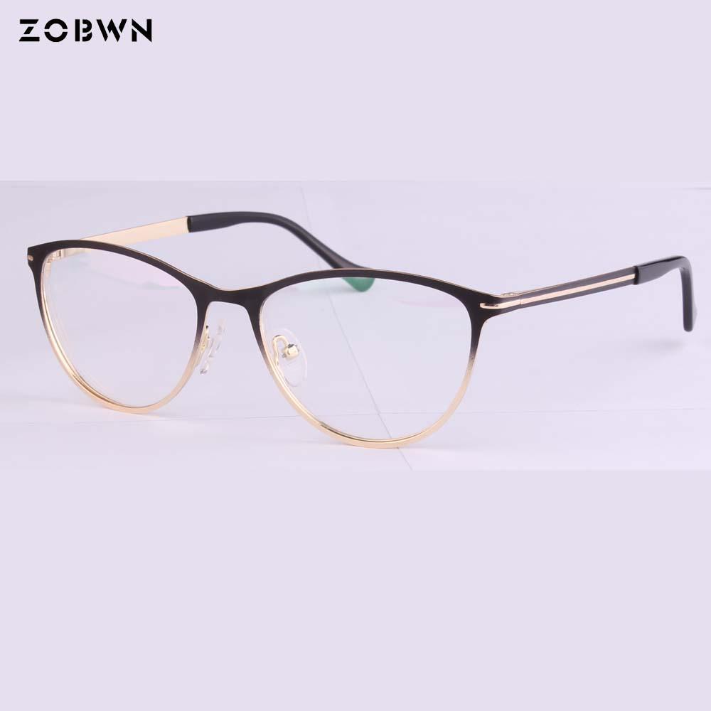 Compre Nova 2018 Moda Oculos De Grau Feminino Armações De Óculos Gradiente  De Cor Óculos De Design De Marca Óptica Quadro Mulheres UV Para Miopia De  ... 741a9972ac