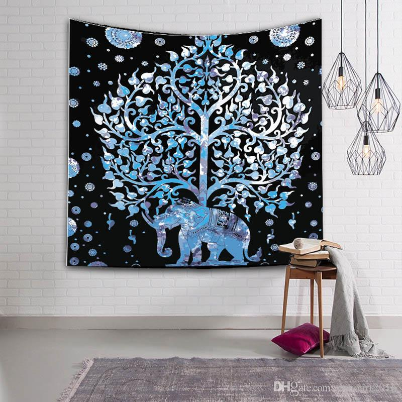 Indian Elephant Tapestry Wall Hanging Bohemian Home Decor Life Tree  Bedspread Blanket Mandala Towel Lady And The Unicorn Tapestries Lady And  The Unicorn ... 3fb1a80213