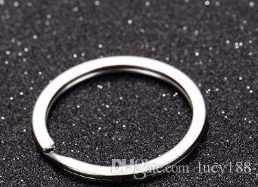 Fornecimento de fabricante de metal de alta qualidade 1.5 x25mm chaveiro chaveiro anel chaveiros venda bolsas acessórios do carro