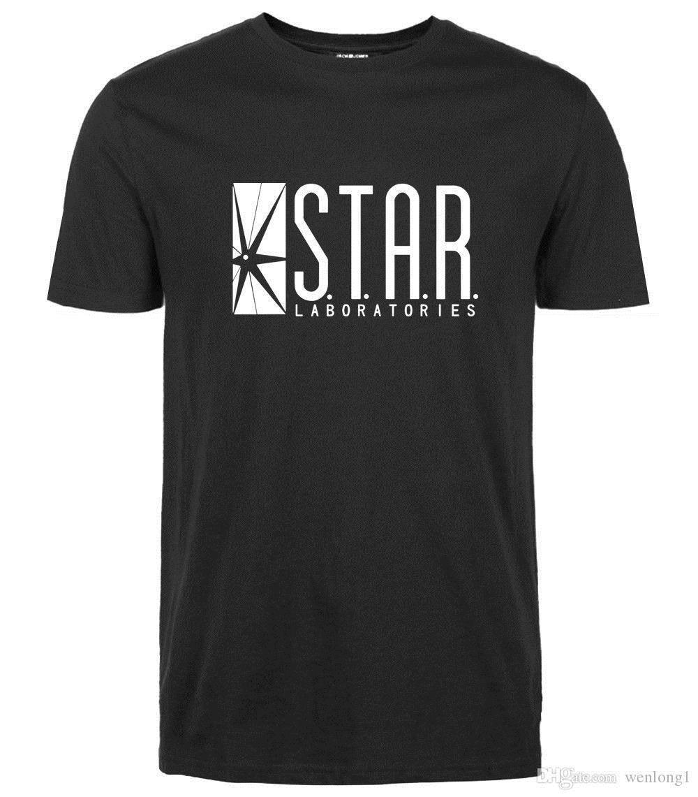 2d76ad86 2017 Cotton Men T Shirts The Flash Star Laboratories S.T.A.R Labs Logo T  Shirts Print T Shirt Men Brand Clothing Online Shopping Tee Shirts Crazy T  Shirts ...