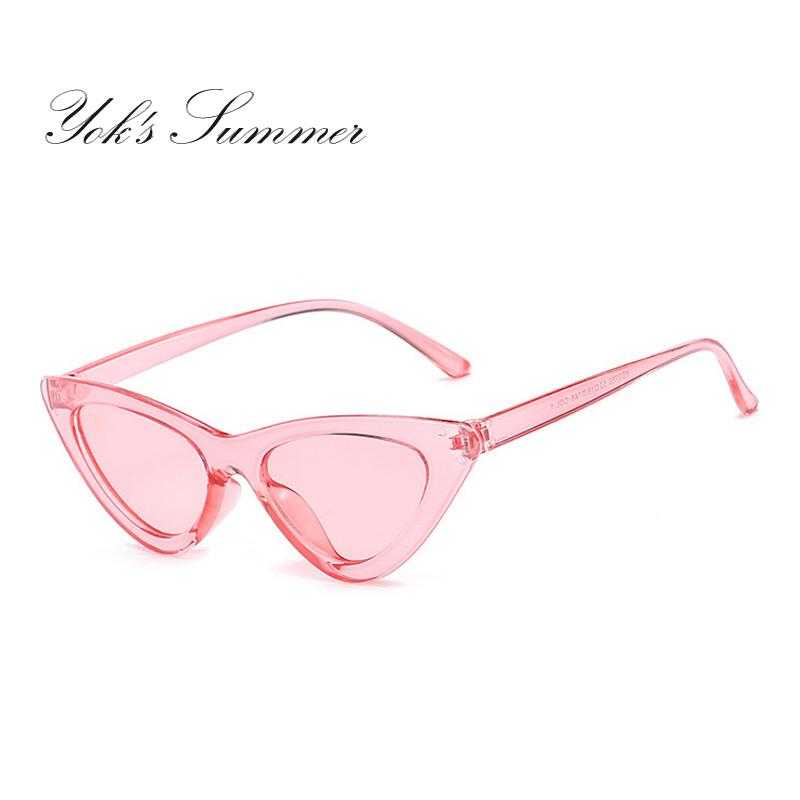 48dc0b9423 Yok S Cat Eye Sunglasses Women PC Colored Transparent Frame Sun Glasses For  Women Luxury Brand Mirror UV400 Lens Gafas Femme WL071 Electric Sunglasses  ...