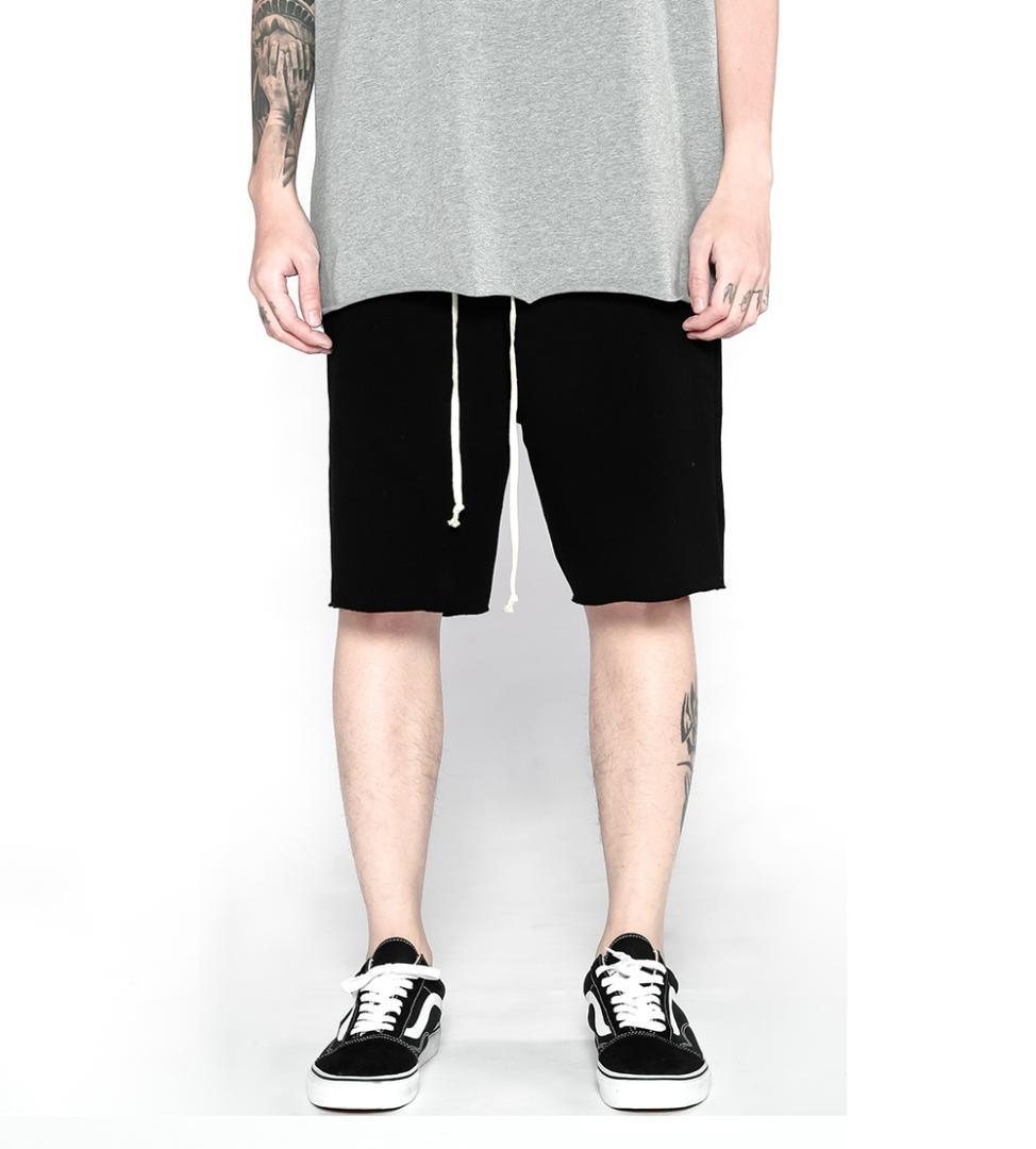 f1fb54e6bd6 2018 Hot Sale Men s Summer Fashion Sweat Shorts Casual Waist Trousers Sweat  Shorts Pure Hip Hop Oversized Loose Casual Shorts Cheap Casual Shorts 2018  Hot ...