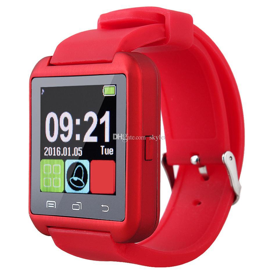 شاشة بلوتوث U8 ساعة ذكية وساعات اليد التي تعمل باللمس لسامسونج S8 الروبوت الهاتف النوم مراقب الذكية ووتش مع حزمة البيع بالتجزئة