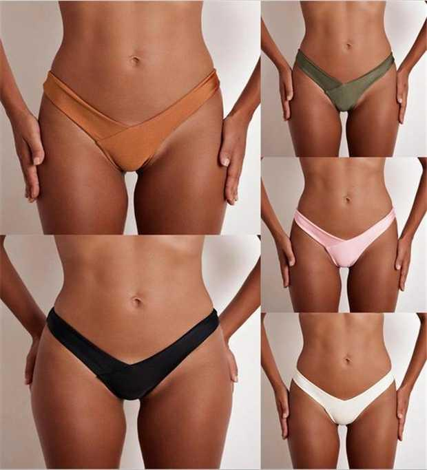 332985162e 2019 Swimwear Women Briefs Cheeky Bikini Bottom Brazilian Thong Swimsuit  Classic Cut Bottoms Biquini Swim Short Ladies Swimsuit From Elizabethy