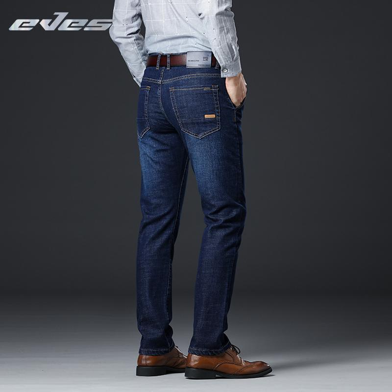 Großhandel Blau Business Jeans 2018 Herren Casual Gerade Eves BordeWCx