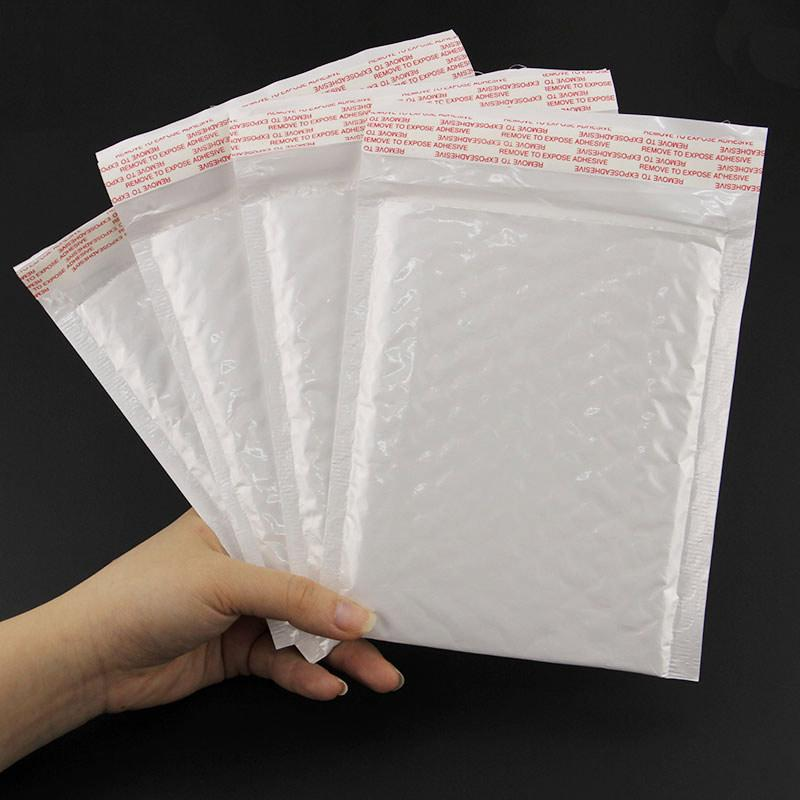 Wholesale- New 160x140MM/130x110MM 10pcs/lot High Quality Pearl Film Bubble Mailers White Padded Envelopes Bags CE0004
