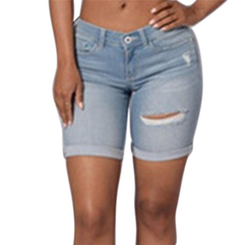 prezzo competitivo f09b9 e11ce Denim Estate Jeans Donna Pantaloni Corti Casual ...