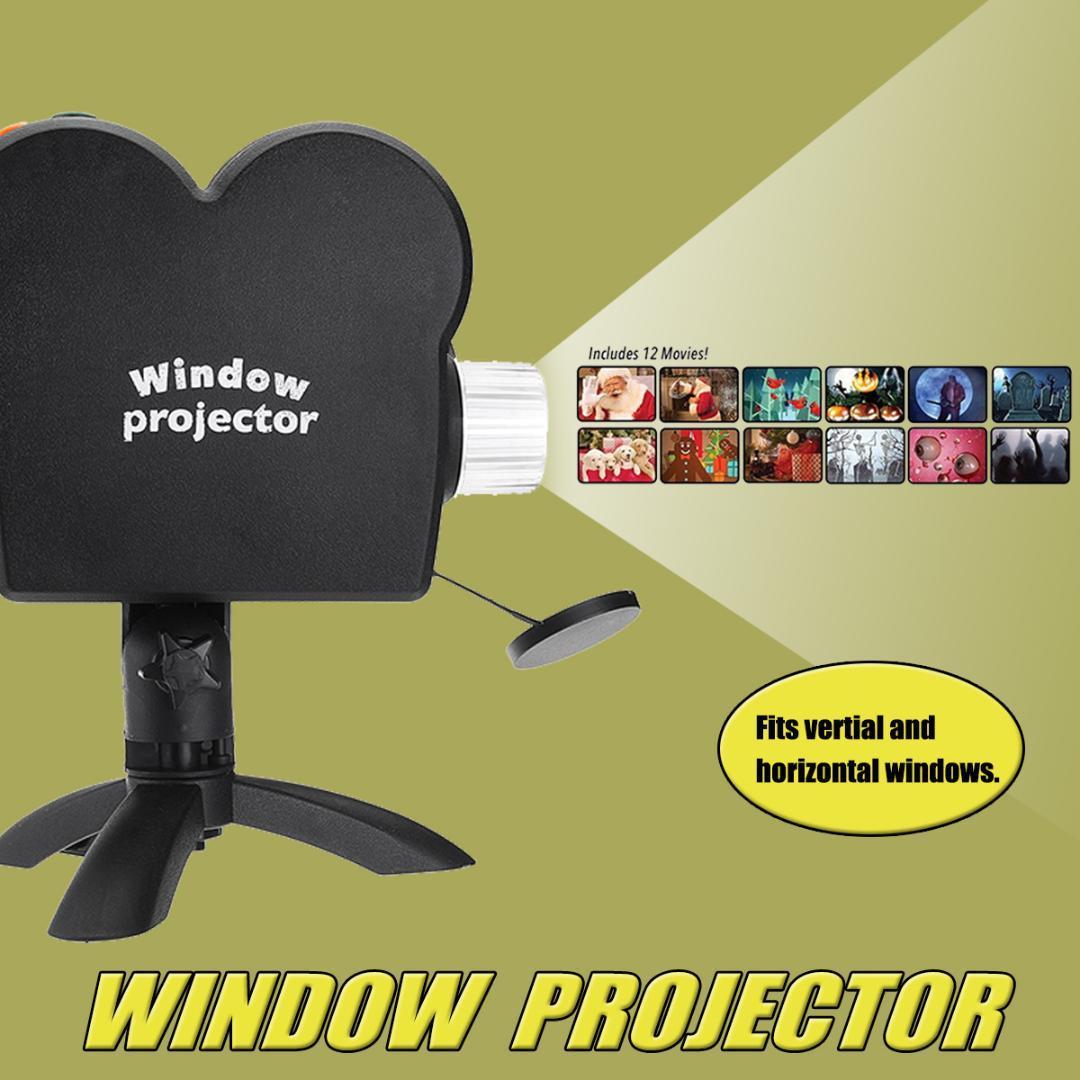 2018 Halloween Holiday Light Window Projector Lamp Holiday Video 12 ...