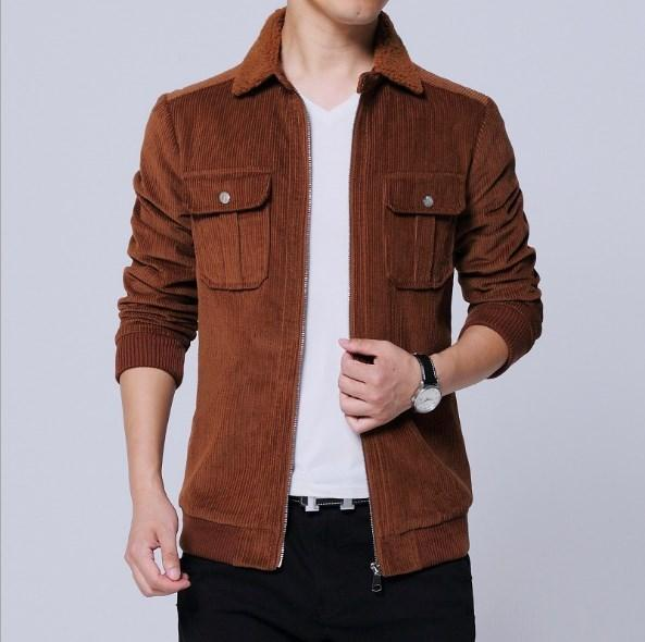 94d97ab87ee0b Chinese Style Men Autumn Winter Corduroy Jacket Coat With Turn Down Fur  Collar Plus Size Brown Jacket Men Oversized Outwear 5XL Denim Jacket Wool  Collar ...