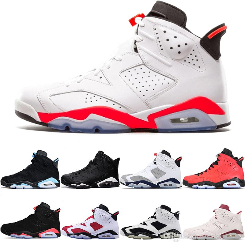 f464f29ee5fa06 Sneaker 6 6s Men Basketball Shoes Tinker UNC Infrared White Black ...