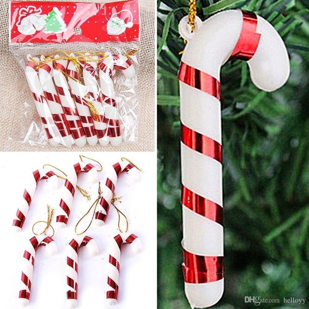 12pcs diy craft charming festival decoration christmas candy cane hanging ornaments xmas tree decor - Christmas Candy Cane Decorations