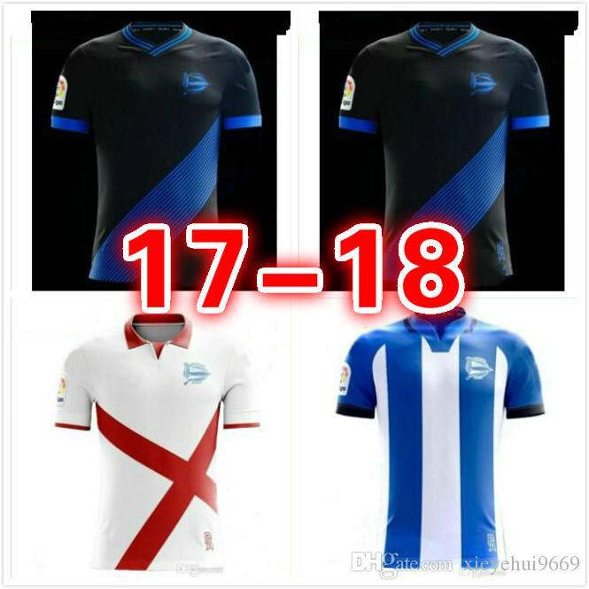 33b8d3693 2019 Best 2017 2018 Adults Alaves Jersey Soccer Shirt 17 18 Deportivo  Alaves Shirt SANTOS VIGARAY ALEXIS Football Shirt From Xieyehui9669