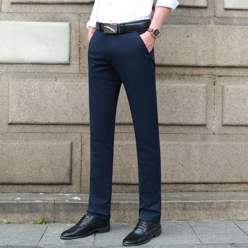 2019 Herrenmode Boutique Reine Formale Business Anzug Hosen Männer Der Marke Hochzeit Kleid Anzug Hosen Männlichen Dünne Beiläufige Hosen Mutter & Kinder