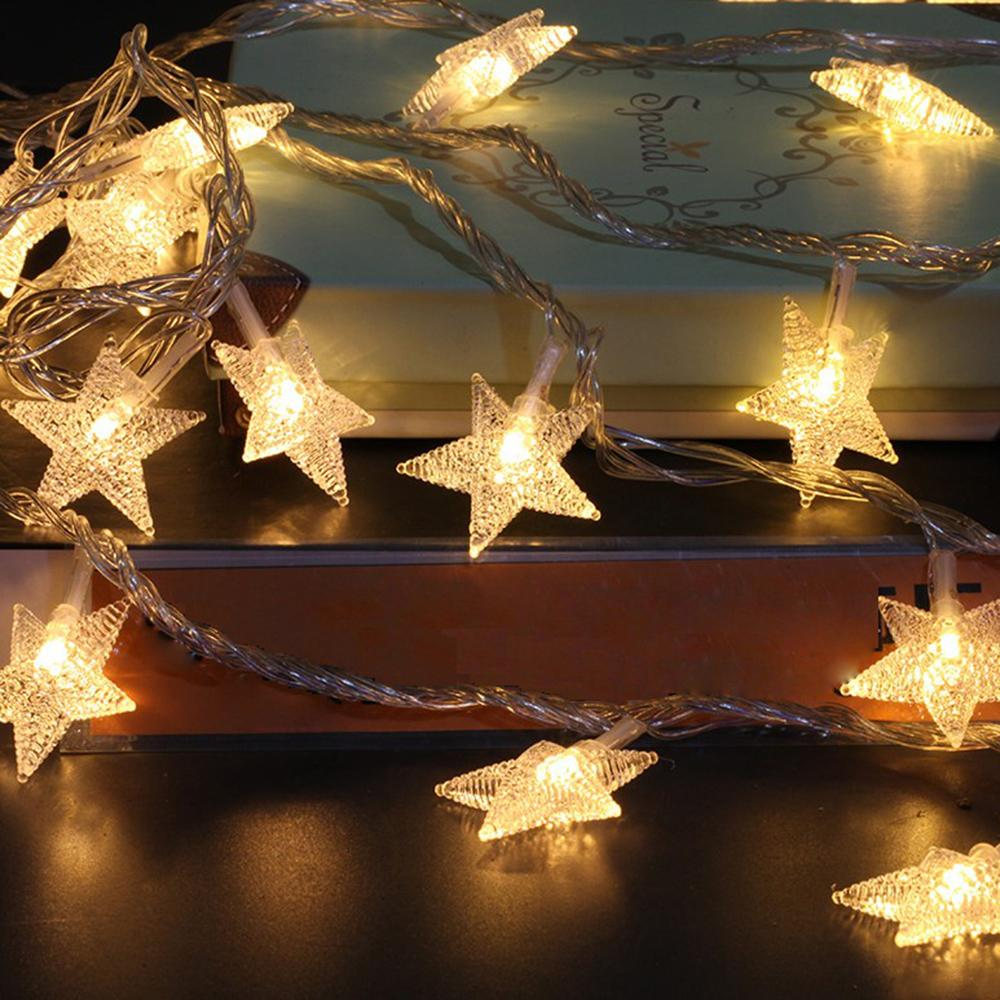 10m 100 led star fairy string light christmas fairy light garland home new year party birthday wedding decor 110v 220v round string lights low voltage