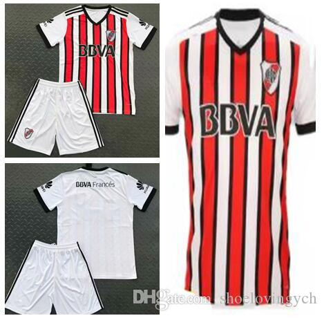 01342598b51 2017 2018 River Plate Home White Soccer Jersey River Plate Away Red ...