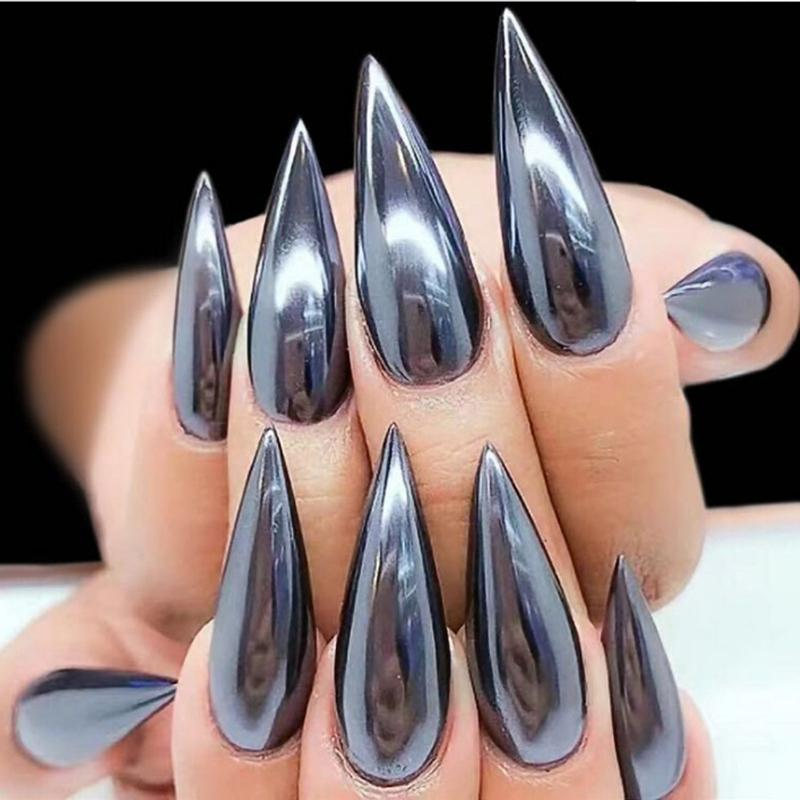 0.5g Black Mirror Dazzling Nail Glitter Metal Nail Art Chrome Powder Shiny  Ultra Thin Pigment Dust Decor For 2018 Christmas Nails Nail Designs From  Jinzhong ... - 0.5g Black Mirror Dazzling Nail Glitter Metal Nail Art Chrome Powder