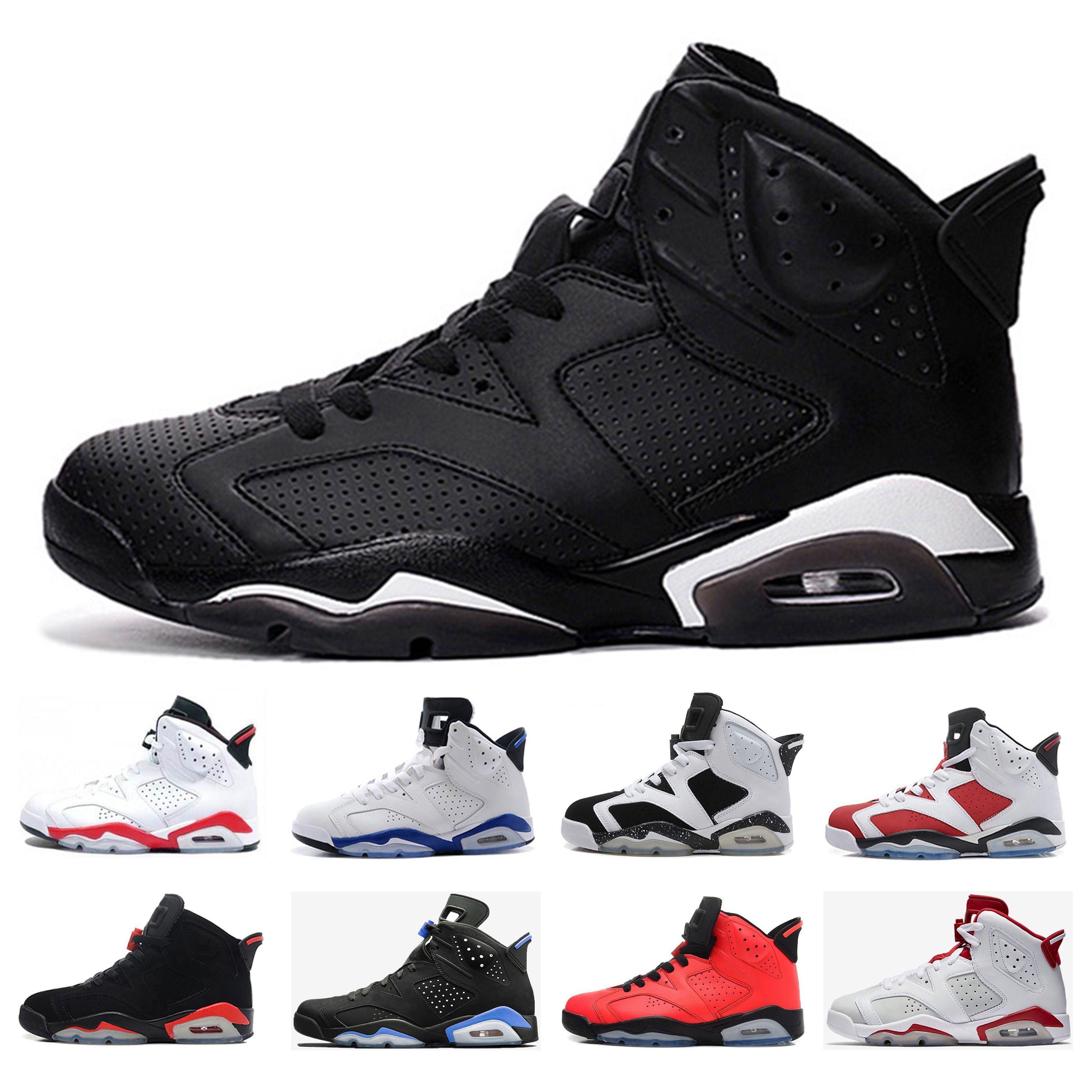 best sneakers 075c7 326ec Newest 6 6s mens Basketall Shoes Black Infrared UNC Black cat Maroon  Carmine Alternate Hare Olympic Oreo high Athletic Sport Sneaker US 8-13