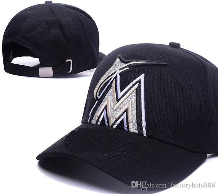 2018 Sports Marlins Hat Baseball KC Cap Embroidery Thounds Styles ... 62d2d78d0c1